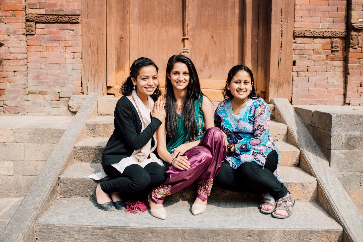 Anisha Nimiska and Saniya by Kristen GIles Nepal