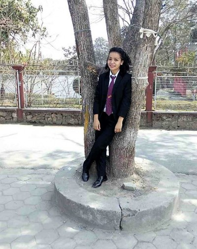 BMKF scholar Anisha Gautam studies at Nepal Law Campus.