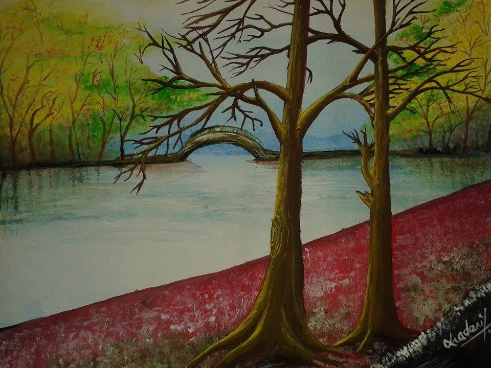 An original painting by BMKF scholar Chadani Shrestha.